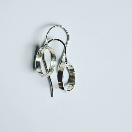 Sterling silver earrings Circlets, Bijuterii de argint lucrate manual, handmade