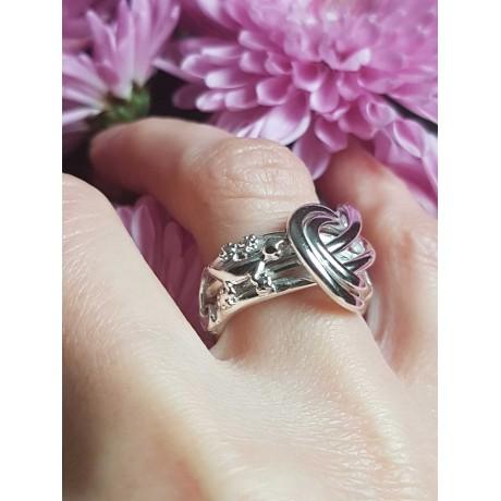 Sterling silver ring Saints & Lizards, Bijuterii de argint lucrate manual, handmade
