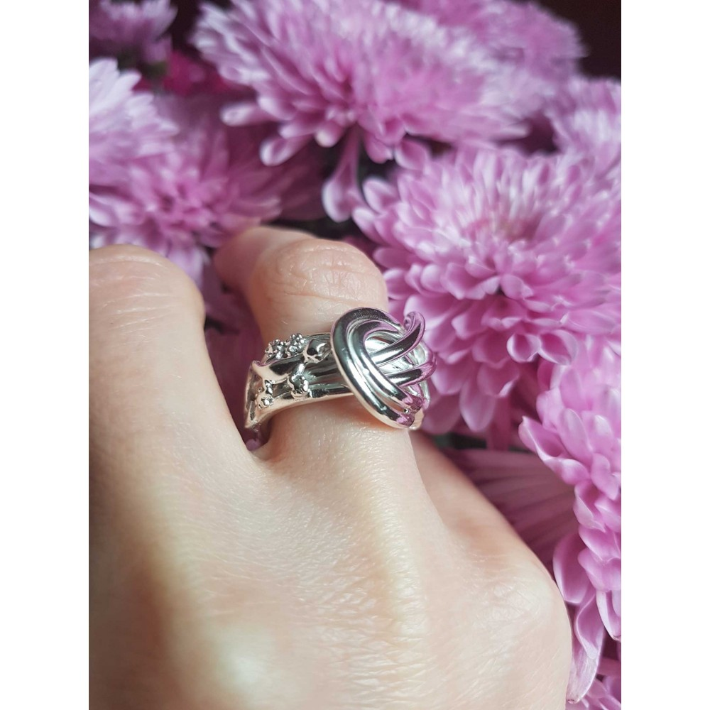 Sterling silver ring Saints & Lizards