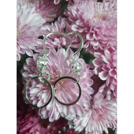 Sterling silver earrings and zircon, Bijuterii de argint lucrate manual, handmade