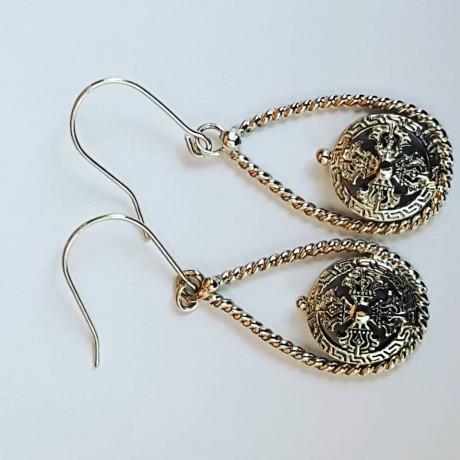 Sterling silver earrings Swaying Darlings, Bijuterii de argint lucrate manual, handmade