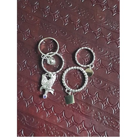 Sterling silver and gold ring, Bijuterii de argint lucrate manual, handmade
