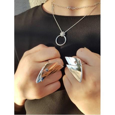 Sterling silver ring Velature, Bijuterii de argint lucrate manual, handmade