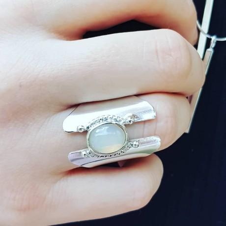 Sterling Silver ring FireKick, Bijuterii de argint lucrate manual, handmade