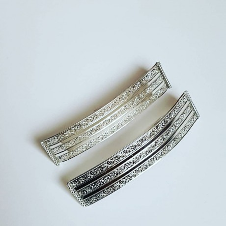 Sterling silver earrings LoveChronicler, Bijuterii de argint lucrate manual, handmade