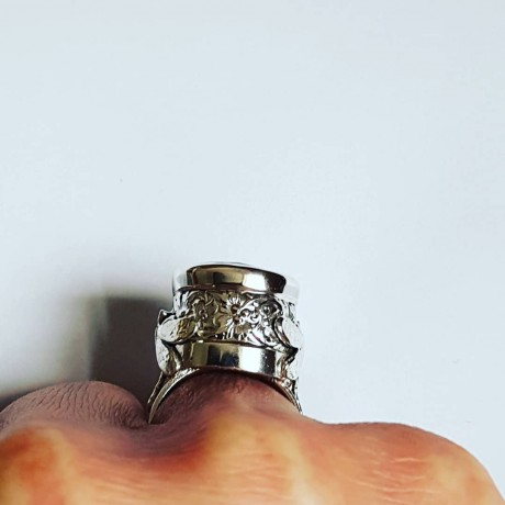 Sterling silver ring and zirconium, Bijuterii de argint lucrate manual, handmade