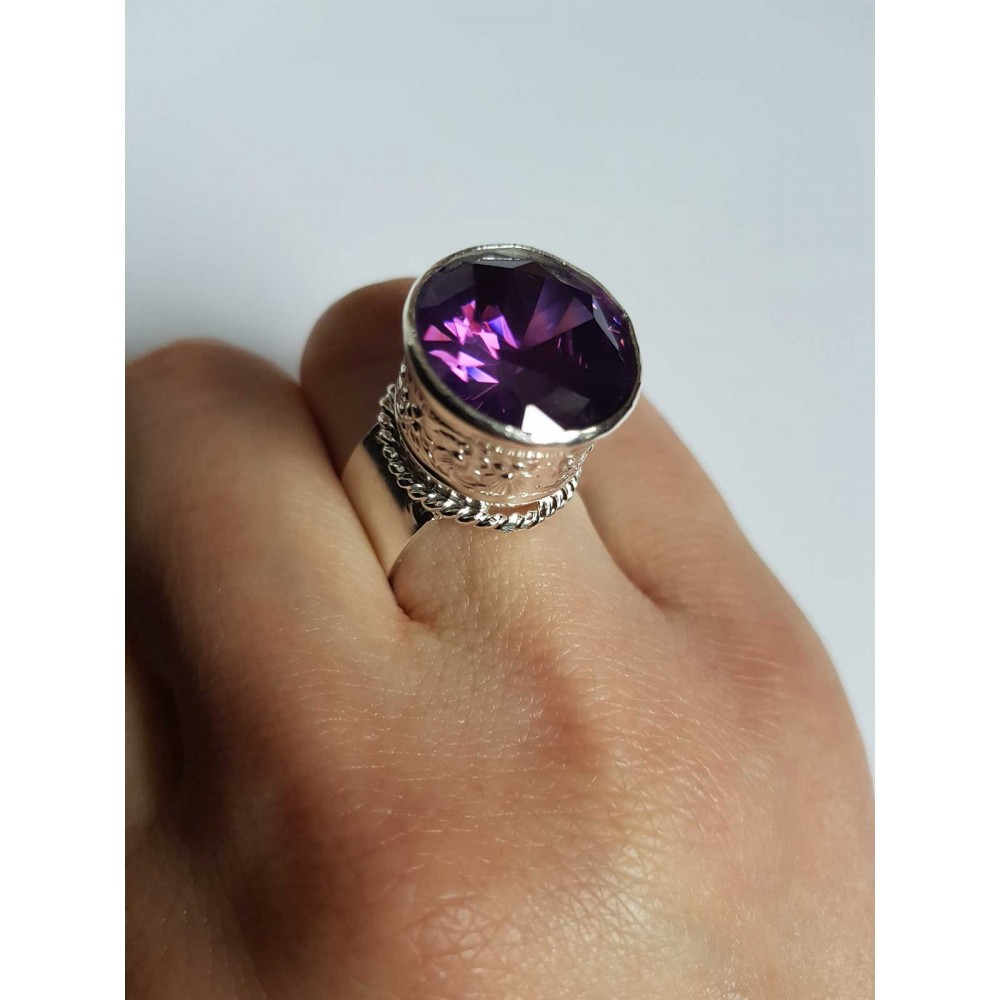 Sterling silver ring and amethyst PurpleWatch