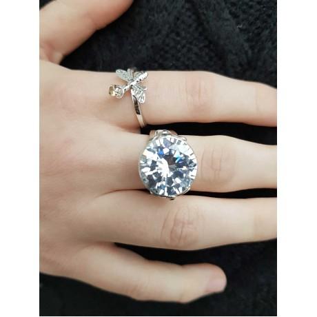Sterling silver ring with citrin, Bijuterii de argint lucrate manual, handmade