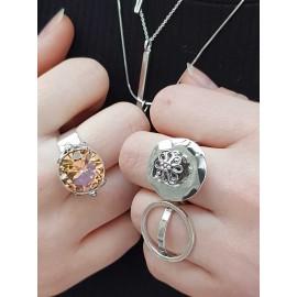 Sterling silver ring sun flower