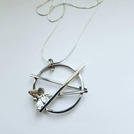 Sterling silver pendant Entwined