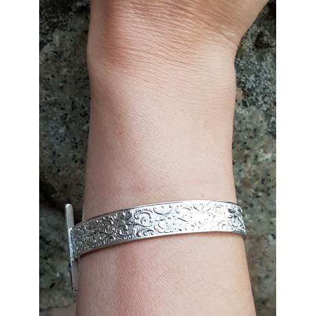 Sterling silver cuff, Bijuterii de argint lucrate manual, handmade