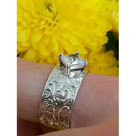 Sterling silver engagement ring , Bijuterii de argint lucrate manual, handmade