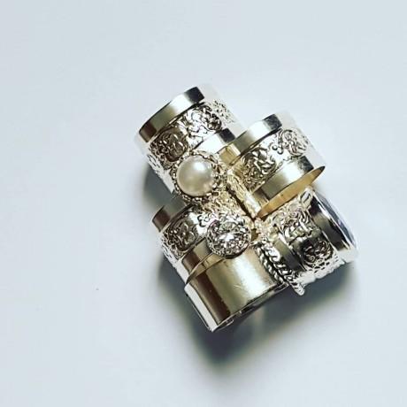 Sterling silver ring and zirconium crafted, Bijuterii de argint lucrate manual, handmade