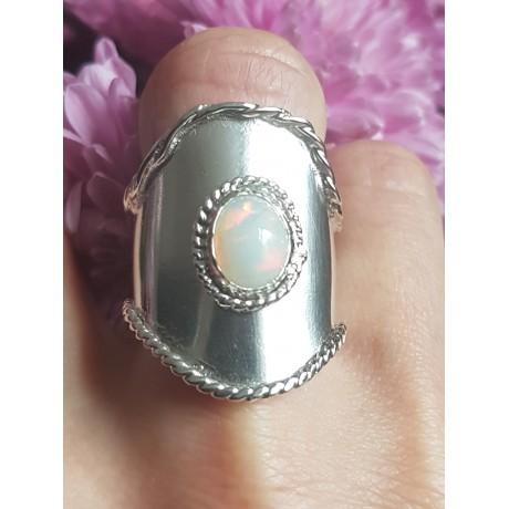 Sterling silver ring with natural fire opal BadgeofMagnanimy, Bijuterii de argint lucrate manual, handmade