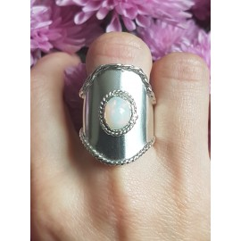 Sterling silver ring with natural fire opal BadgeofMagnanimy
