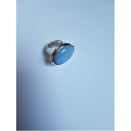 Sterling silver ring with natural blue opal , Bijuterii de argint lucrate manual, handmade