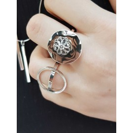 Sterling silver ring Encircled