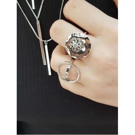 Sterling silver ring Encircled, Bijuterii de argint lucrate manual, handmade