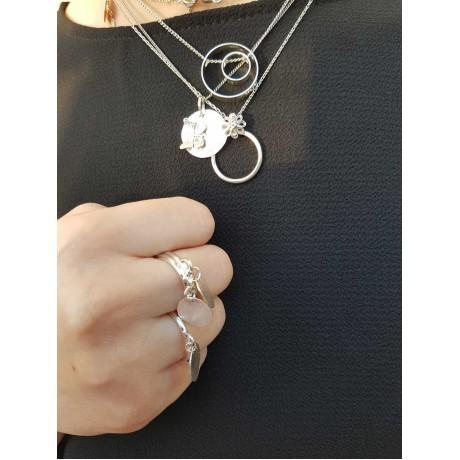 Sterling silver necklace, Bijuterii de argint lucrate manual, handmade