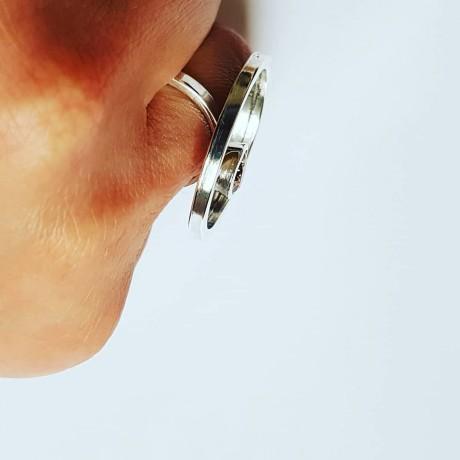 Sterling silver ring and citrine GoingMoonic, Bijuterii de argint lucrate manual, handmade