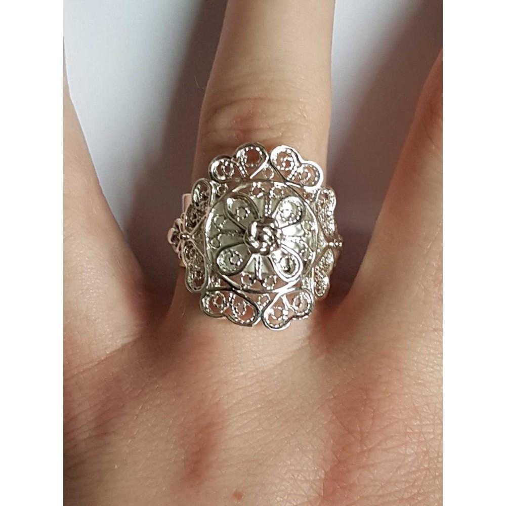 Sterling silver ring Latticelove