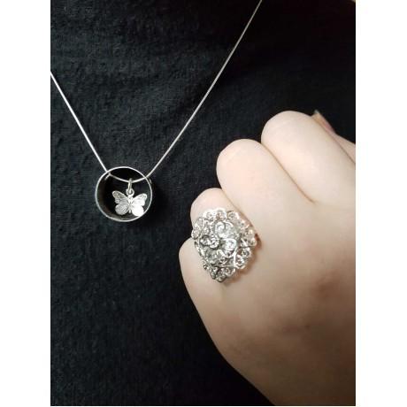 Sterling silver ring Latticelove, Bijuterii de argint lucrate manual, handmade