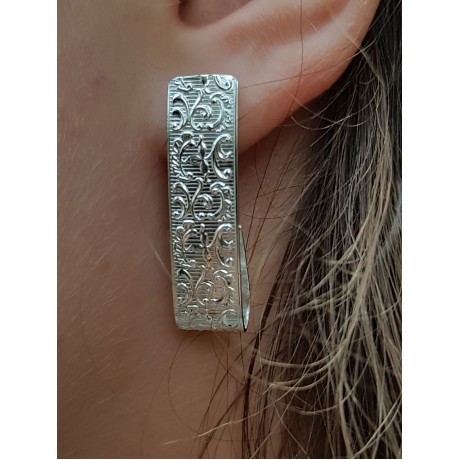 Sterling silver earrings, Bijuterii de argint lucrate manual, handmade