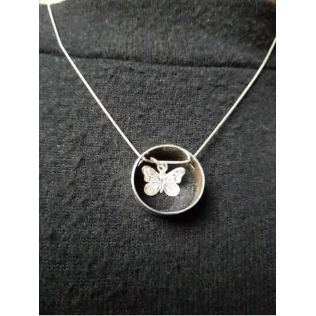Sterling silver necklace pendant, Bijuterii de argint lucrate manual, handmade