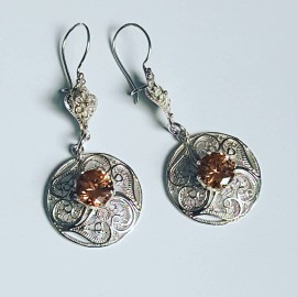 Sterling silver earrings and citrines Mindmyglowin