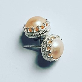 Sterling silver earrings and pearls