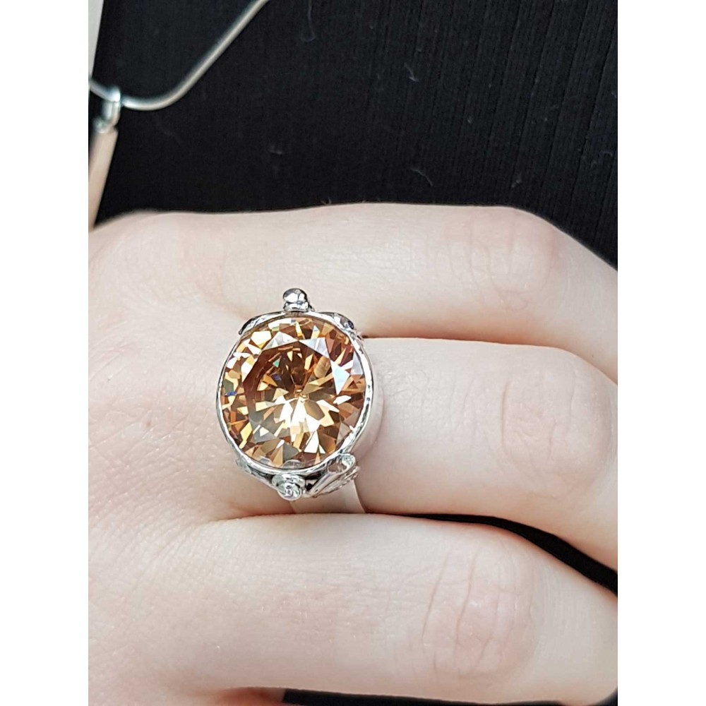 Sterling silver ring and citrine dalloz