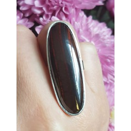 Sterling silver ring with natural iron tigers eye