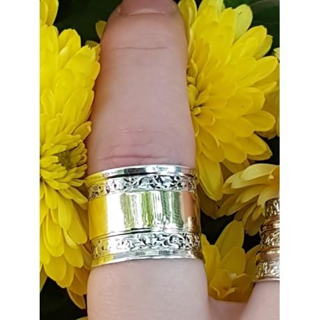 Gold and Sterling silver engagement ring , Bijuterii de argint lucrate manual, handmade