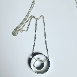 Sterling silver necklace InbetweenCircles