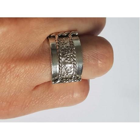 Sterling silver ring masiv, Bijuterii de argint lucrate manual, handmade