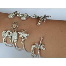 Sterling silver cuffs Bagatelle mirabelle