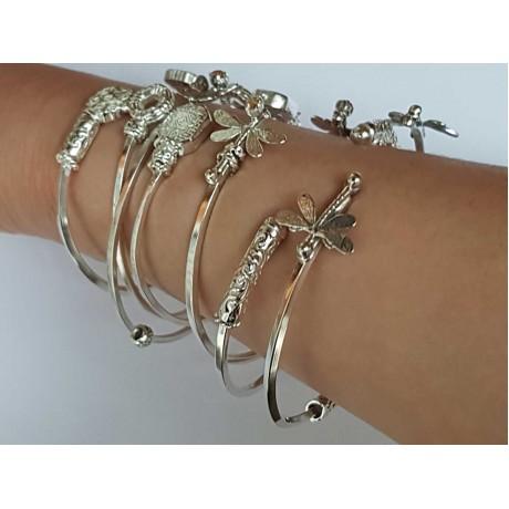 Sterling silver cuffs Bagatelle mirabelle, Bijuterii de argint lucrate manual, handmade