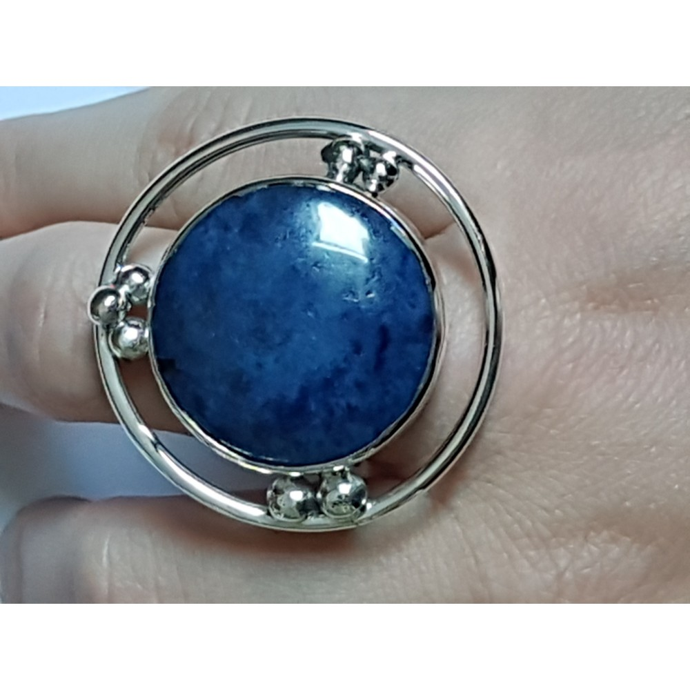 Large Sterling silver ring and lapislazuli
