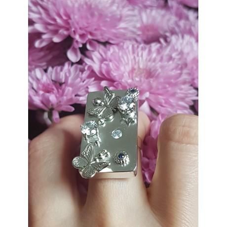 Sterling silver ring SoftMeadows, Bijuterii de argint lucrate manual, handmade