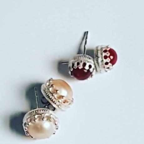 Sterling silver earrings and carnelian, Bijuterii de argint lucrate manual, handmade