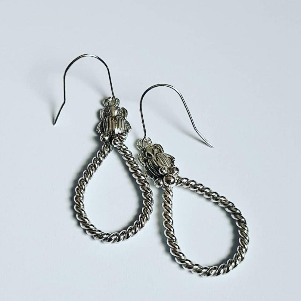 Sterling silver earrings Scarabeans