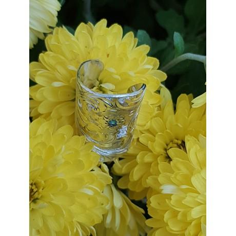 Sterling silver ring Swirling Flowers, Bijuterii de argint lucrate manual, handmade