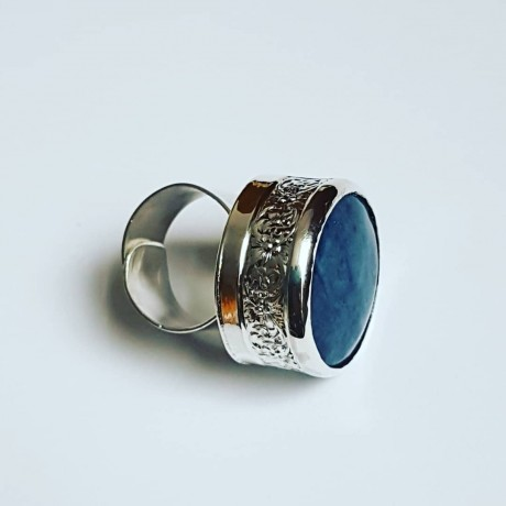 Large Sterling silver ring with natural lapislazuli BluePilgrim, Bijuterii de argint lucrate manual, handmade