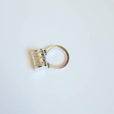 Sterling silver ring Rituel Sensuel, Bijuterii de argint lucrate manual, handmade