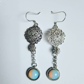 Sterling silver earrings and opalites Rowsofwhites