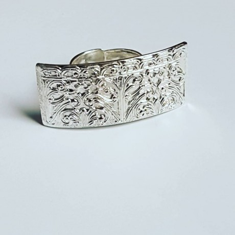 Handmade ring made entirely of Ag925 solid silver Map to Love, Bijuterii de argint lucrate manual, handmade