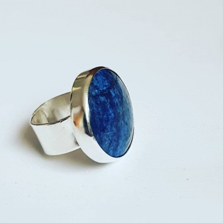 Handmade ring made entirely of solid Ag925 silver and natural lapis lazuli BluePrince, Bijuterii de argint lucrate manual, handmade
