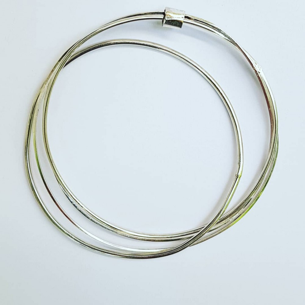 Sterling silver bracelet Circling