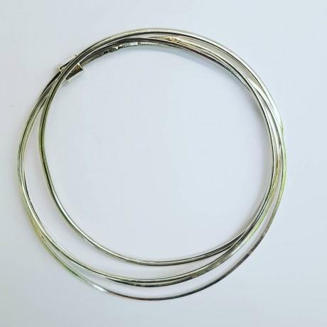 Sterling silver bracelet Circling, Bijuterii de argint lucrate manual, handmade