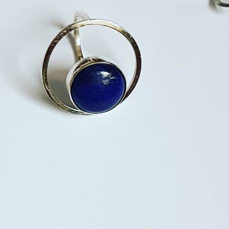 Handmade ring made entirely of Ag925 silver and natural lapis lazuli DazzlingBlues, Bijuterii de argint lucrate manual, handmade